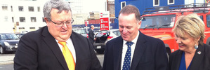 Key visits Christchurch construction sites