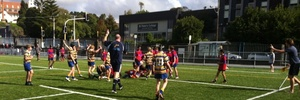 The St Peters College and Suburbs rugby game was very evenly matched.Photo / Supplied