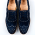 These crystal embellished, blue suede brogues by iconic British footwear brand Church's offer a glamorous take on the traditional style. $840 from Scotties. Ph (09) 366 1664. Photo / NZH