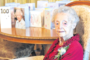 Mosgiel resident Olive Ford's 100th birthday today will be a relaxing affair. Photo / Craig Baxter