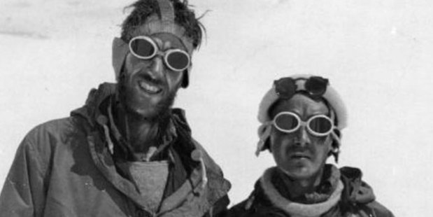 Sir Edmund Hillary, left, said at the time, two years before his death, that he thought the whole attitude towards climbing Mt Everest had become rather horrifying. Photo / Royal Geographical Society