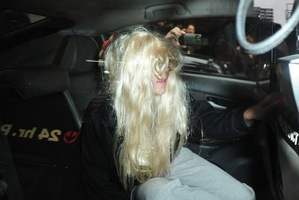 Actress Amanda Bynes departs Manhattan Central Booking after being arrested on May 23. Photo / Getty Images