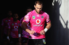 Simon Mannering of the Warriors leads the team out. Photo / Getty Images