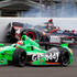 James Hinchcliffe, of Canada, bottom, goes under as JR Hildebrand hits the wall in the first turn during the Indianapolis 500 auto race at the Indianapolis Motor Speedway. Photo / AP