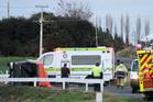 The scene of a fatal crash on Whirinaki Valley Road, near Rotorua, on State Highway 30. Photo / Peter Gran/SNPA