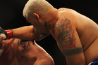 New Zealand mixed martial arts fighters Mark Hunt (L) and James Te Huna were both defeated at UFC 160 in Las Vegas today. Photo / Getty Images.