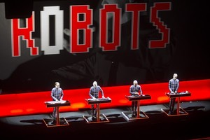 Kraftwerk perform during their shows at the Sydney Opera House as part of the Sydney Vivid festival.