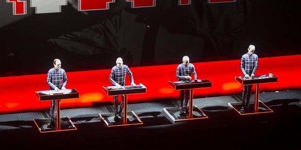 Kraftwerk perform during their shows at the Sydney Opera House as part of the Sydney Vivid festival. Photo / Sydney Vivid/Supplied