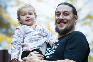 Former P cook Peter Thorburn, with daughter Arabella, is now a drug and alcohol educator. Photo / Kellie Blizard
