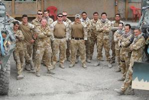 The Kiwi team before they left on the August 4 patrol in which two died. Photo / Supplied