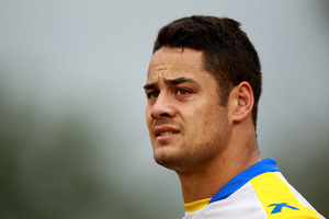At just 25, Jarryd Hayne is the most experienced player in the team with 16 appearances. Photo / Getty Images