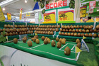 John and Anne Belcher spotted a kiwifruit soccer game at a supermarket in Jakarta, Indonesia, after staff entered a competition to create the most innovative promotion.  Photo / Supplied