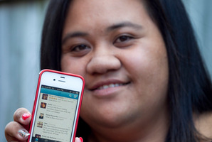 Auckland University student Beverly Fina'i has been tweeting for three years, since she was 17. Photo / Natalie Slade