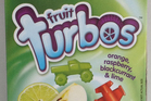 Nice & Natural Fruit Turbos - $4.59 for pack of eight. Photo / Supplied