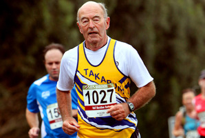 Malcolm Attree, 74, has run 28 marathons and 126 half marathons, so far. Photo / MarathonPhotos.com
