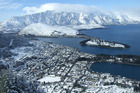 Queenstown under snow cover in 2011. File photo / Otago Daily Times