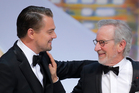 Actor Leonardo DiCaprio, left, and director and jury president Steven Spielberg. Photo / AP