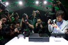 Press photograph the Xbox One following the Xbox One reveal event in Redmond, Washington. Photo / AP