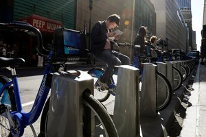 Despite complaints over the location of some docking stations the scheme has been well received.  Photo / AP