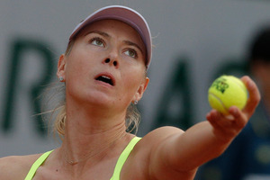 Maria Sharapova bundled Hsieh Su-Wei out in 54 minutes. Photo / AP