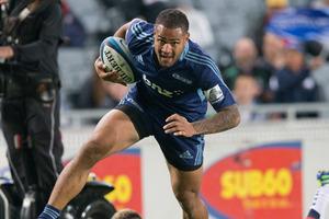 Auckland Blues player Frank Halai. Photo / Greg Bowker
