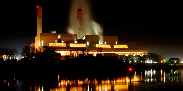 Huntly Power Station owner Genesis Energy could float between two tranches of Meridian shares. Photo / Christine Cornege