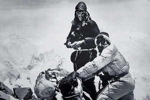 Edmund Hillary and Tenzing Norgay on Mt Everest. Photo / Royal Geographical Society
