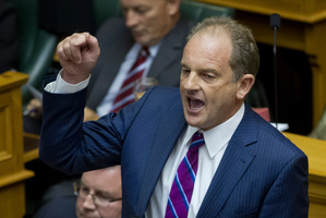 Labour leader David Shearer inspected the porridge and proceeded to take credit for its appearance. Photo / Mark Mitchell