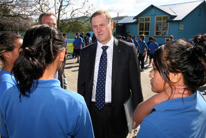 Prime Minister John Key says his plan could include measures to stop children going to school 'hungry and cold'. Photo / Glenn Taylor