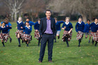 Principal Scott Thelning is bringing back bullrush to Cobham Intermediate in Christchurch to encourage risk-taking and development among pupils. Photo / Martin Hunter