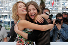Lea Seydoux, left, and actress Adele Exarchopoulos. Photo/AP