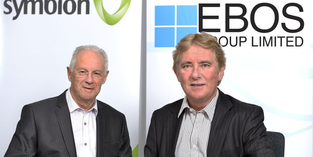 EBOS chairman Rick Christie (left) and managing director Mark Waller. Photo / Supplied