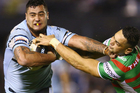Andrew Fifita had a standout game as the Sharks edged out the Rabbitohs on Monday night. Photo / Getty Images
