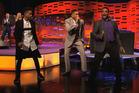 Jaden Smith, Will Smith and Alfonso Ribeiro on The Graham Norton Show. Photo/BBC