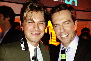 Taylor Hanson and Ed Helms at The Hangover 3 premiere afterparty.