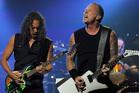 Kirk Hammett, left, and James Hetfield of Metallica. Photo/AP