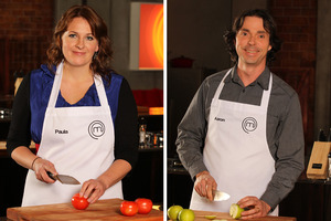 Paula Saengthian-Ngam and Aaron Brunet will compete for the MasterChef title. Photo / Supplied