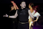 Psy performing in Singapore. Photo/AP