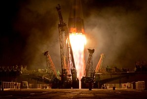 Russia's Soyuz TMA-09M spacecraft blasts off from the Russian leased Kazakh Baikonur cosmodrome. Photo / AFP