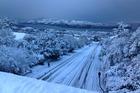 Dunedin under snow this morning. Photo / Richard Ward