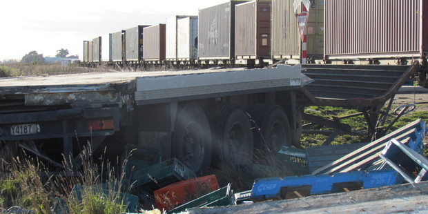 Loading The crossing is marked only by a give way sign. Photo / Ashburton Guardian