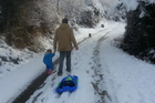 A winter walk at Arthur's Point near Queenstown today. Photo / supplied