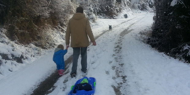 Loading A winter walk at Arthur's Point near Queenstown today. Photo / supplied