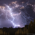 June 4, 2011: The first days of the Cordon Caulle eruption causing explosions and thunderstorms from the expulsion of lava. Location: Lago Ranco, Region de Los Rios, Chile. Photo / Francisco Negroni