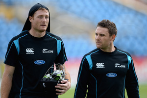Brendon McCullum (l) and Martin Guptill. Photo / Getty Images