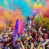 Competitors celebrate completing the Colour Run on the Gold Coast, Australia. Photo / Getty Images