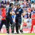 Ross Taylor and Martin Guptill of New Zealand laugh and smile during the 2nd Natwest Series ODI at the Ageas Bowl. Photo / Getty Images