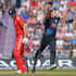 Alastair Cook of England is bowled by Kyle Mills of New Zealand during the 2nd NatWest Series. Photo / Getty Images