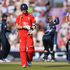 Graeme Swann of England walks off after being bowled by Kane Williamson. Photo / Getty Images