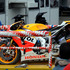 The Honda of Spain's Marc Marquez is towed the circuit after he crashed during the free practice session for Sunday's Italian Moto GP, at the Mugello race circuit. Photo / AP